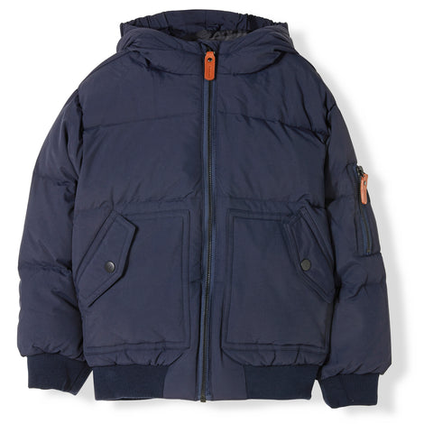 SNOWMOVE Navy -  Woven Down Jacket