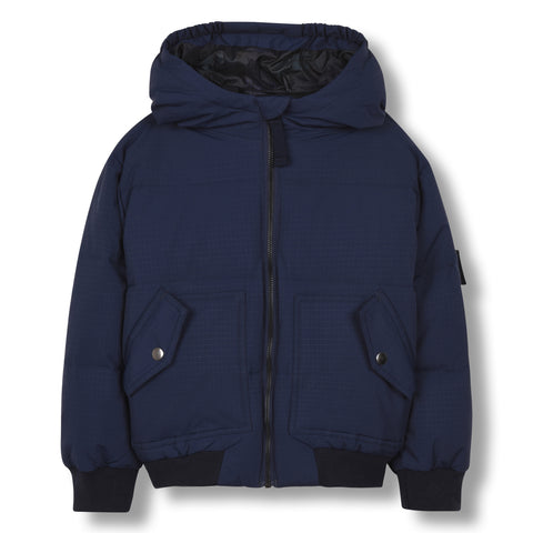 SNOWMOVE Sailor Blue - Bomber Down Jacket 1