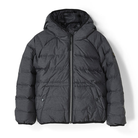 SNOWSKATE Heather Black - Short Down Jacket