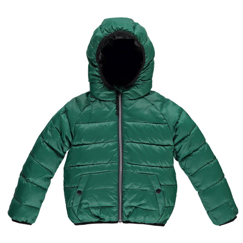 SNOWSKATE Pine Green - Unisex Short Down Jacket