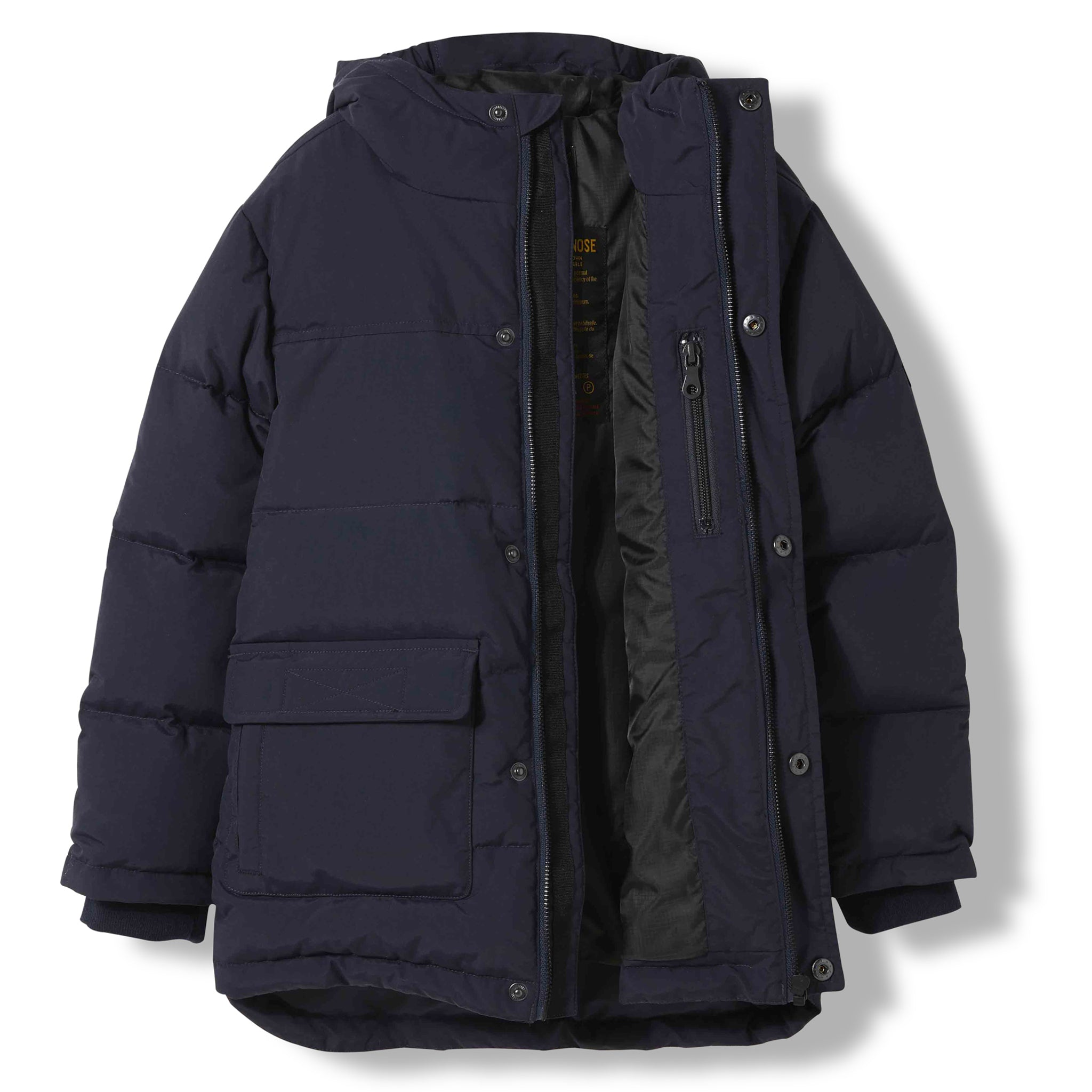 SNOWTOWN Navy -  Woven Down Parka 1
