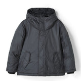 SNOWTRIP Ash Black - Down Jacket with Real Fur Hood