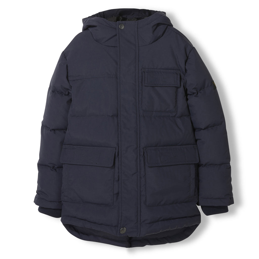 SNOWTOWN Navy -  Woven Down Parka