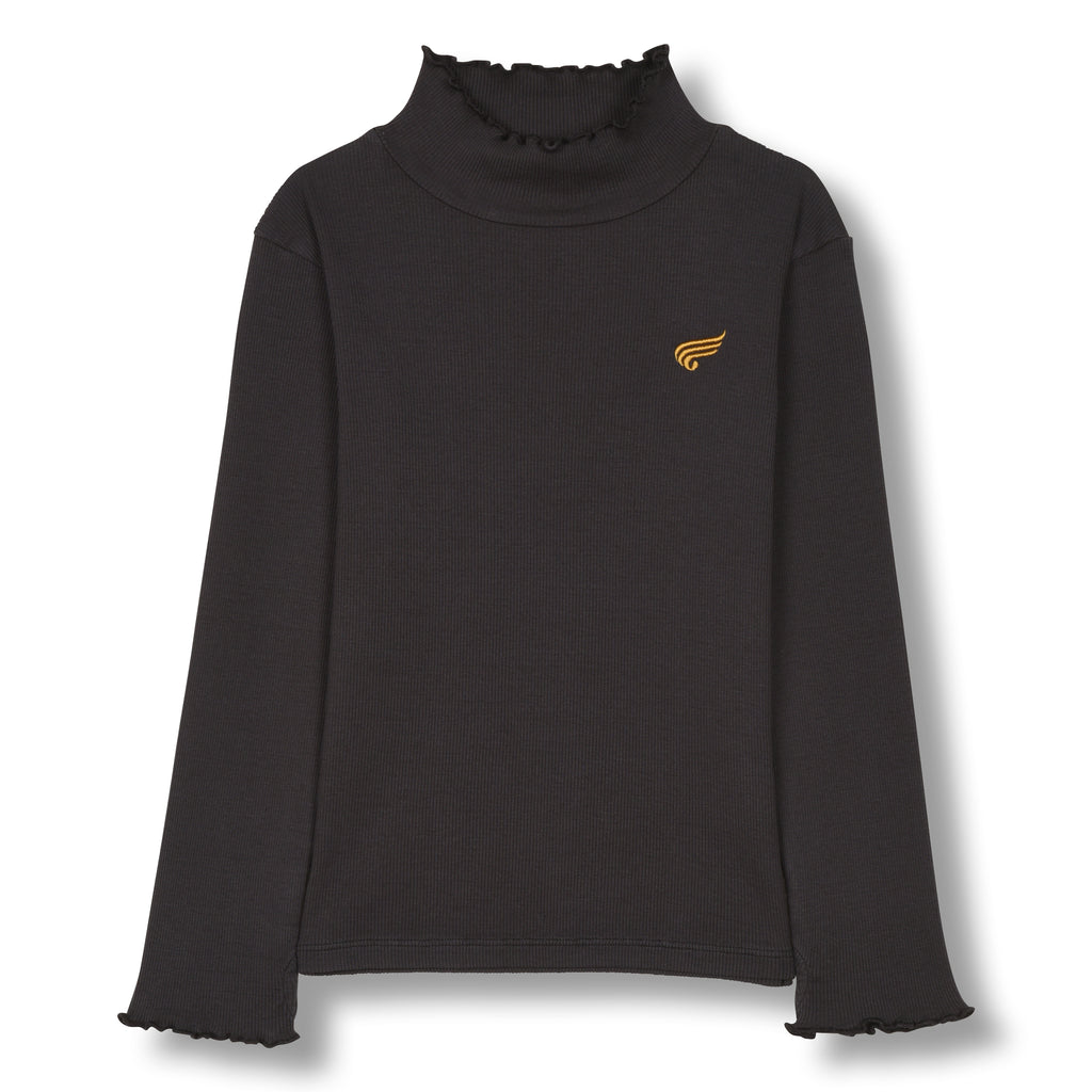 SPICE Ash Black - Long Sleeves High Collar T-Shirt 1