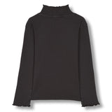 SPICE Ash Black - Long Sleeves High Collar T-Shirt 2