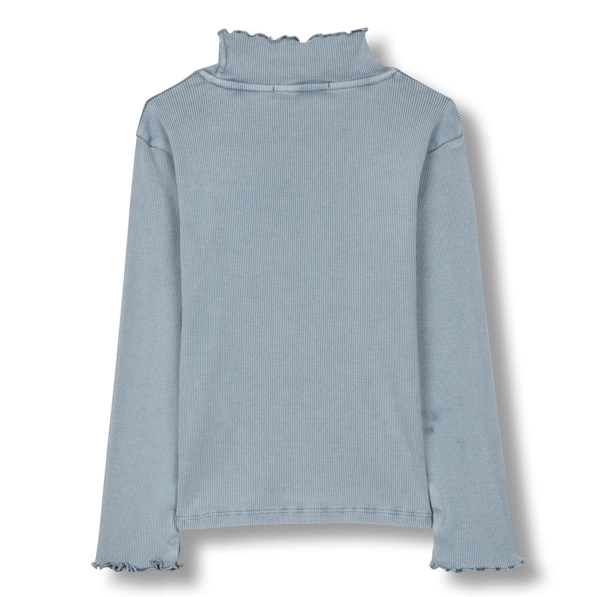 SPICE Stone Blue - Long Sleeves High Collar T-shirt 2