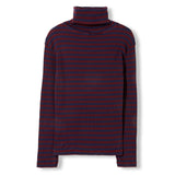 SPY Burgundy Stripes -  Knitted Turtleneck T-Shirt 2