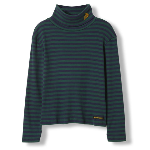 SPY College Green Stripes -  Knitted Turtleneck T-Shirt 1