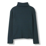 SPY College Green Stripes -  Knitted Turtleneck T-Shirt 2