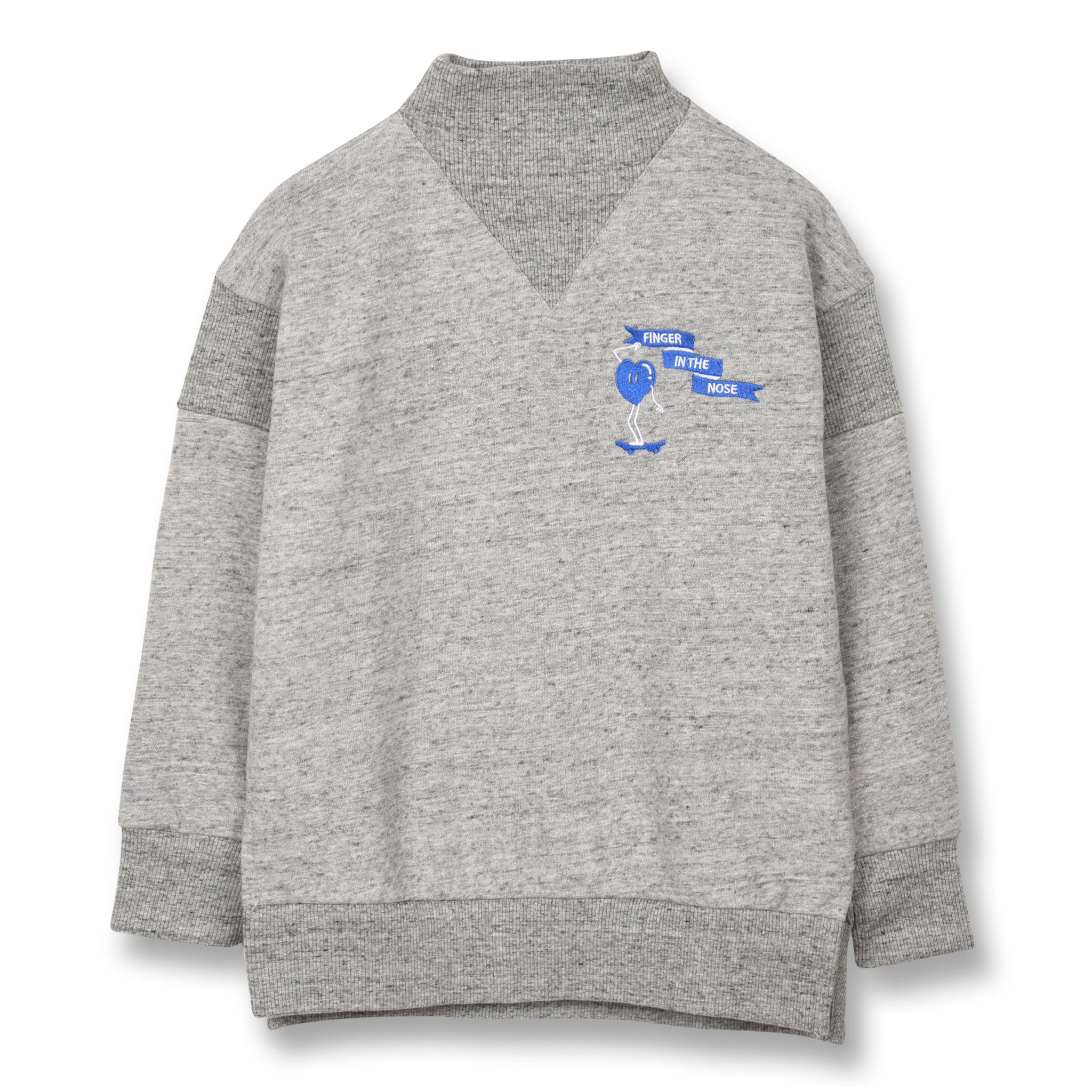 STANCE Heather Grey Skate Heart - Loose Fit Sweatshirt 1