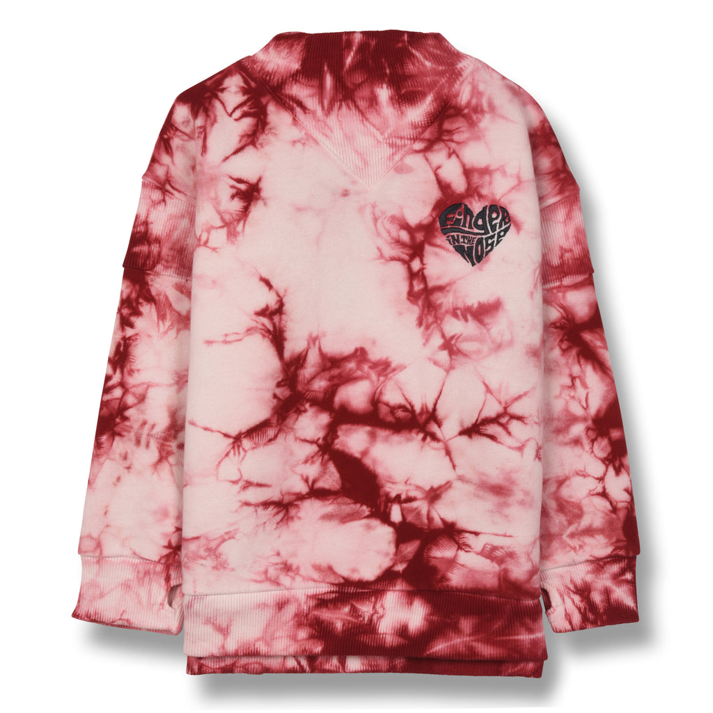 STANCE Old Pink Finger Heart - Loose Fit Sweatshirt