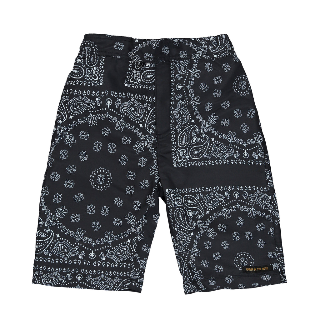 SURFBOY Black Bandana - Boy Surf Short
