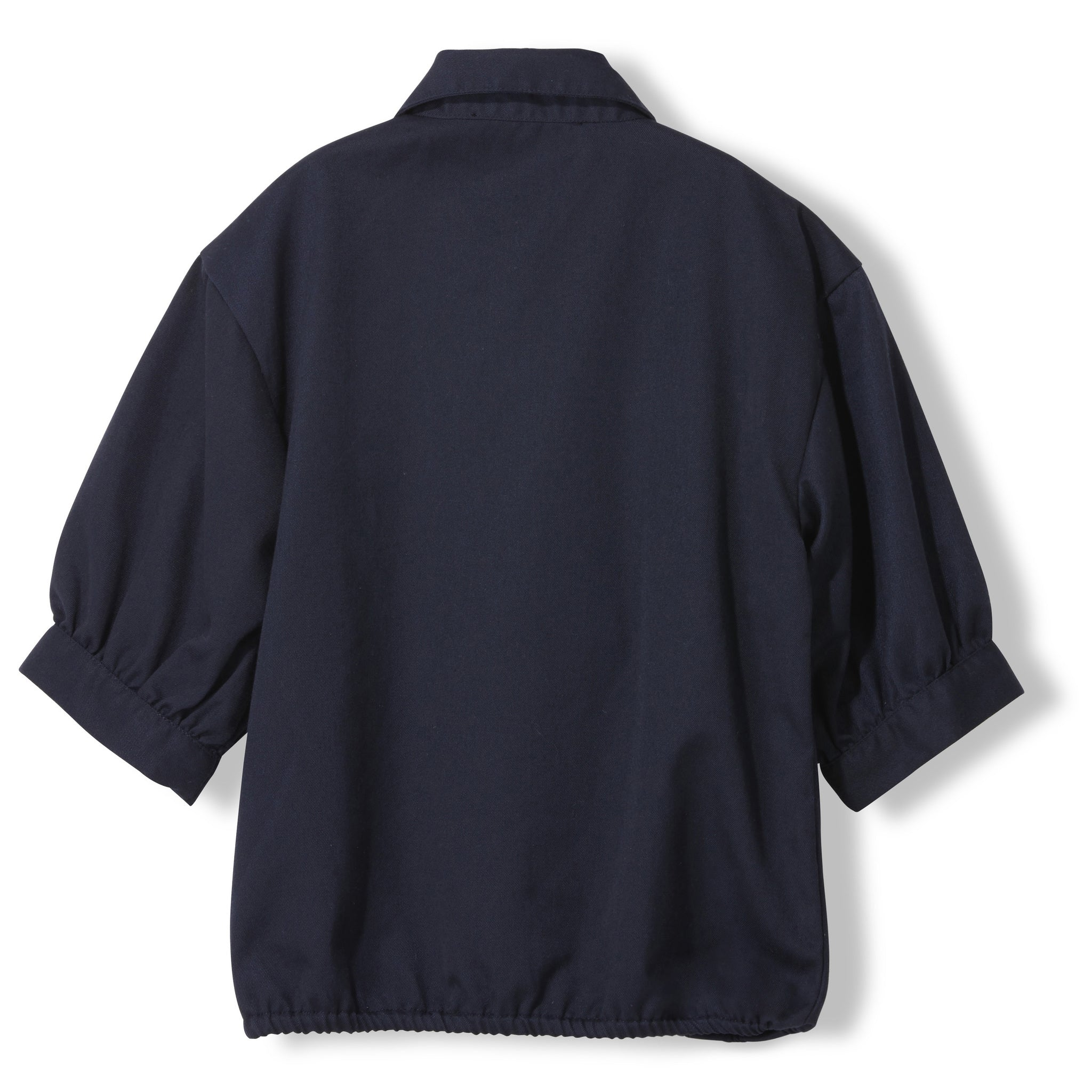 SWELL Night Blue -  Woven Oversized Short Sleeve Shirt 3