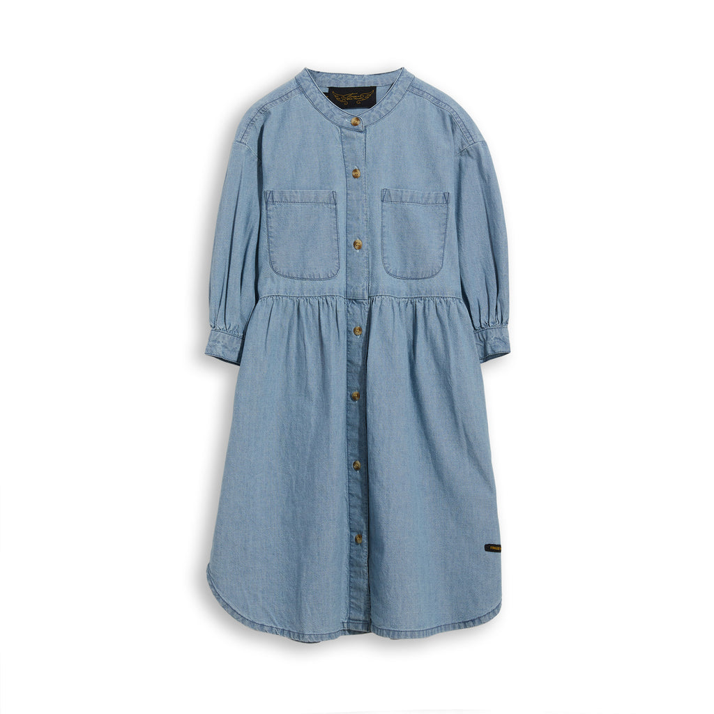 SWING Blue Denim - Short Sleevess Shirt Dress 1