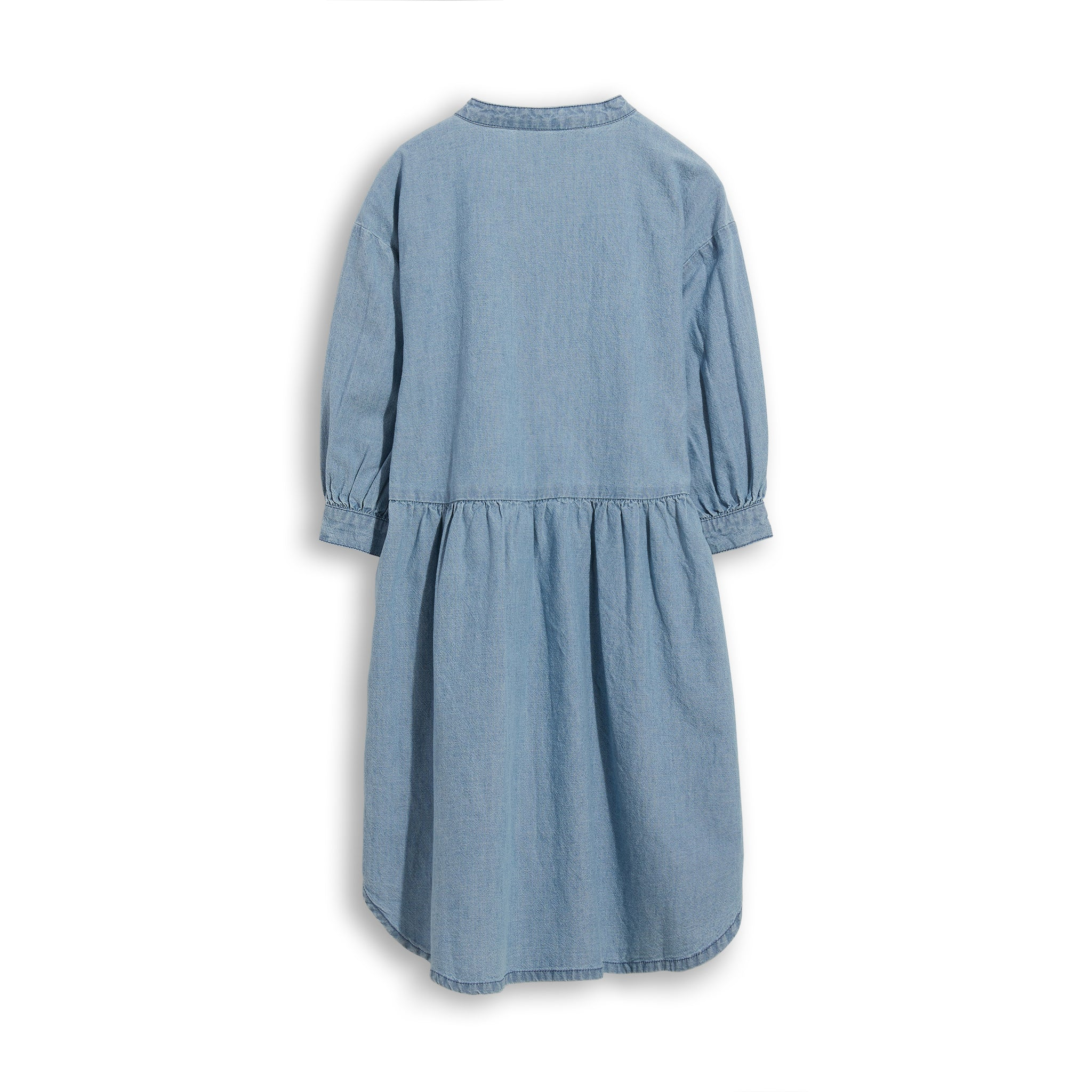 SWING Blue Denim - Short Sleevess Shirt Dress 2