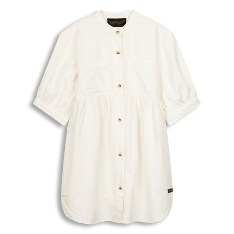 SWING White - Short Sleeve Oversized Dress 1