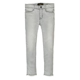 TAMA Bleached Grey Fringes - Girl Skinny Fit Jeans