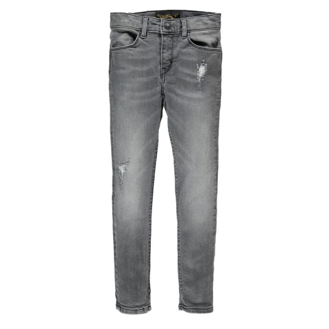 TAMA Grey Denim Repaired - Unisex Skinny Fit Jeans