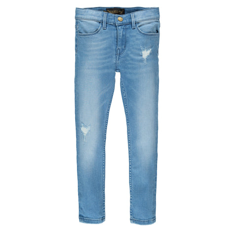 TAMA Light Blue Repaired - Unisex Skinny Fit Jeans