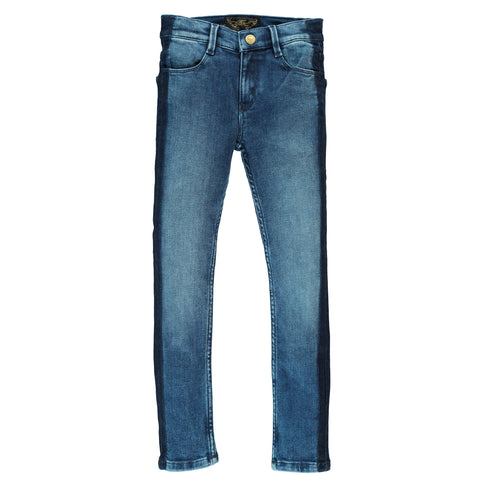 TAMA Blue Denim Smocking - Skinny Fit Jeans