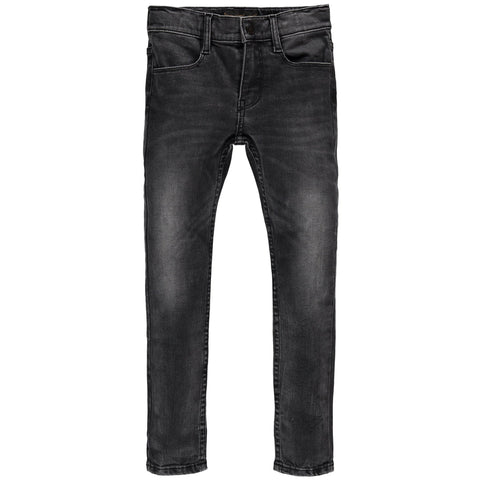 TAMA Stone Black - Unisex Woven Skinny Fit Jeans