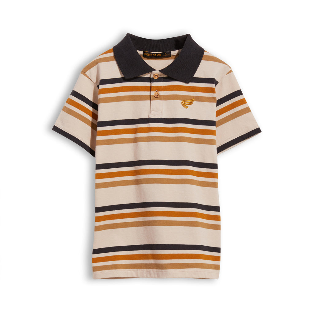 TOMMY Sand Stripes -  Short Sleeve Polo