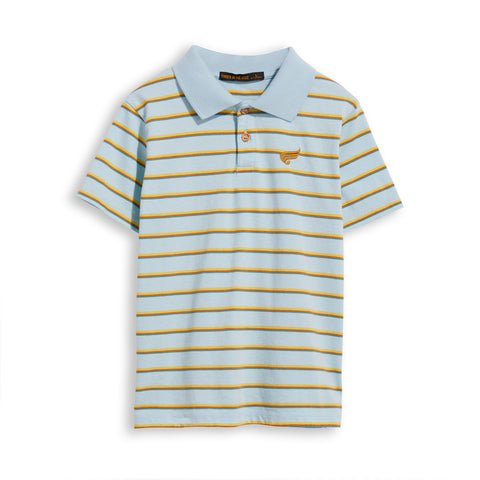 TOMMY Sun Blue Stripes -  Short Sleevess Polo 1