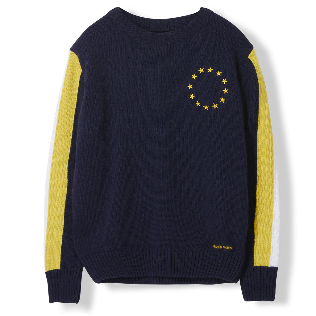 TOVE Night Blue - Unisex Heavy Knitted Round Neck Jumper