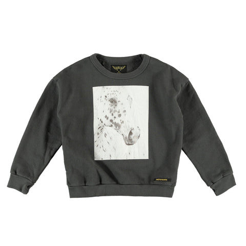 TURNER Vulcano Horse Patch - Girl Fleece Oversized Sweatshirt
