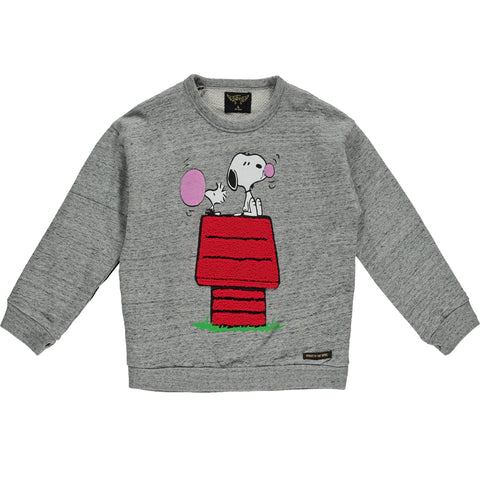 TURNER Heather Grey Bubble Gum - Girls Oversized Sweater