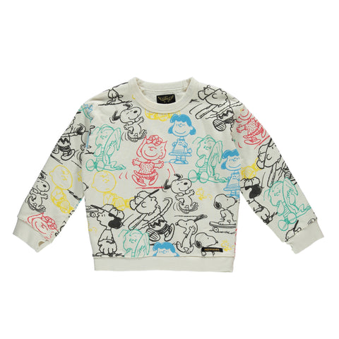 TURNER Off White Snoopy - Girls Oversized Sweater