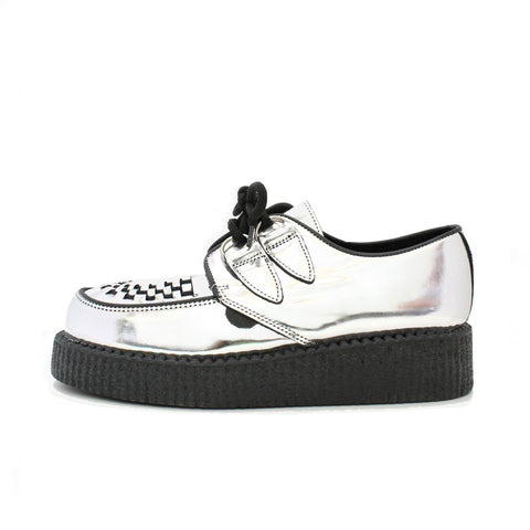 UNDERGROUND Original Wulfrun Creeper - Silver Mirror Leather