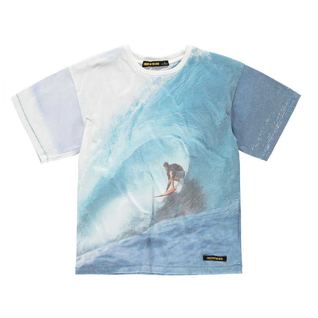 VALLEY Multicolour Wave Rider -  Oversized Short Sleeve T-Shirt