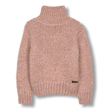 VANITY Heather Pink - Oversized Turtle Neck Jumper 1