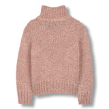 VANITY Heather Pink - Oversized Turtle Neck Jumper 2
