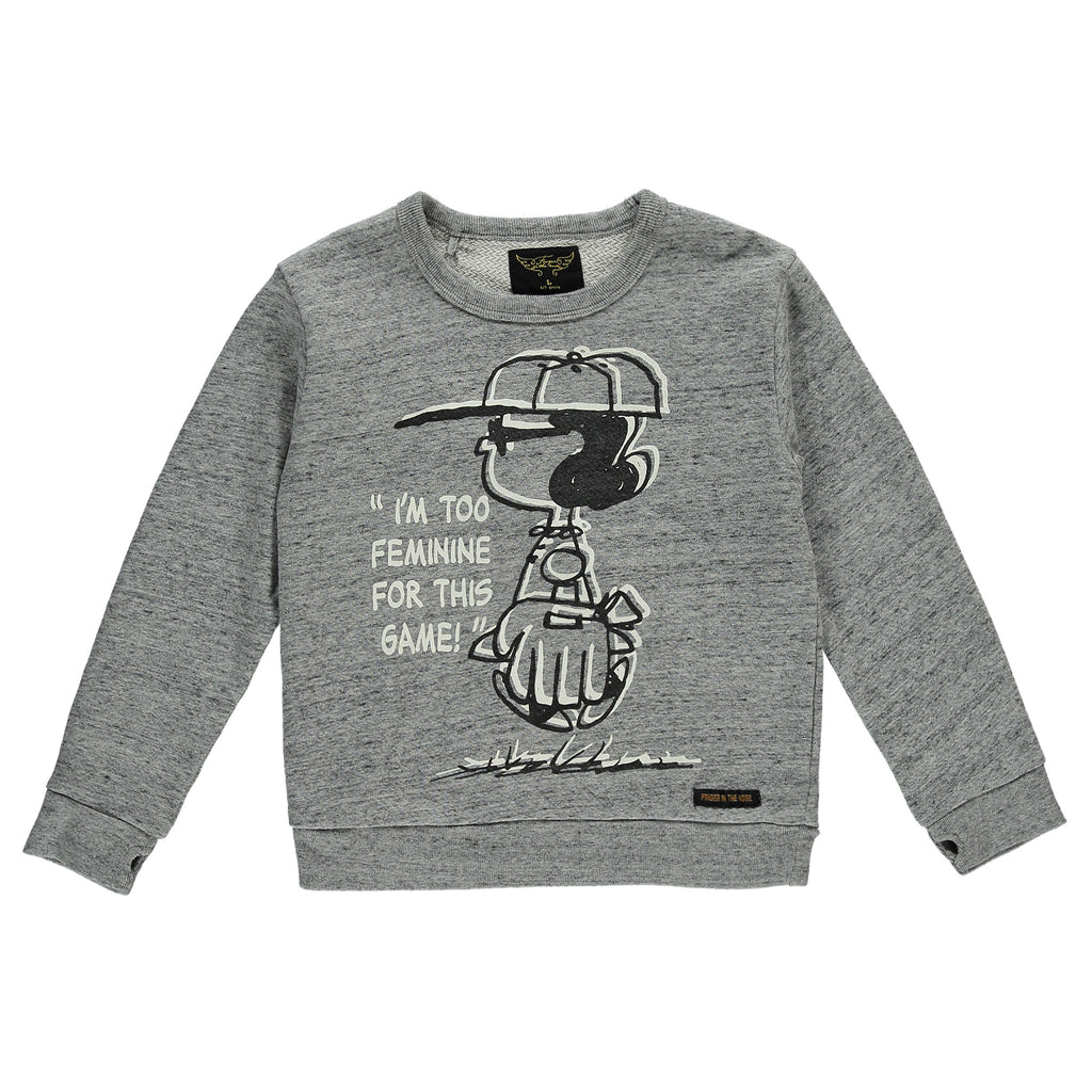 VIOLETTA Heather Grey Lucy - Girls Round Neck Sweater