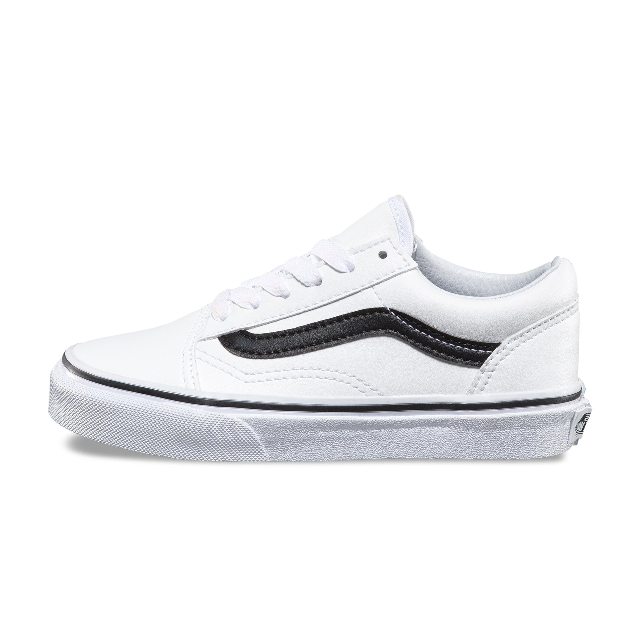 VANS Old Skool - (Classic Tumble) True White-Black