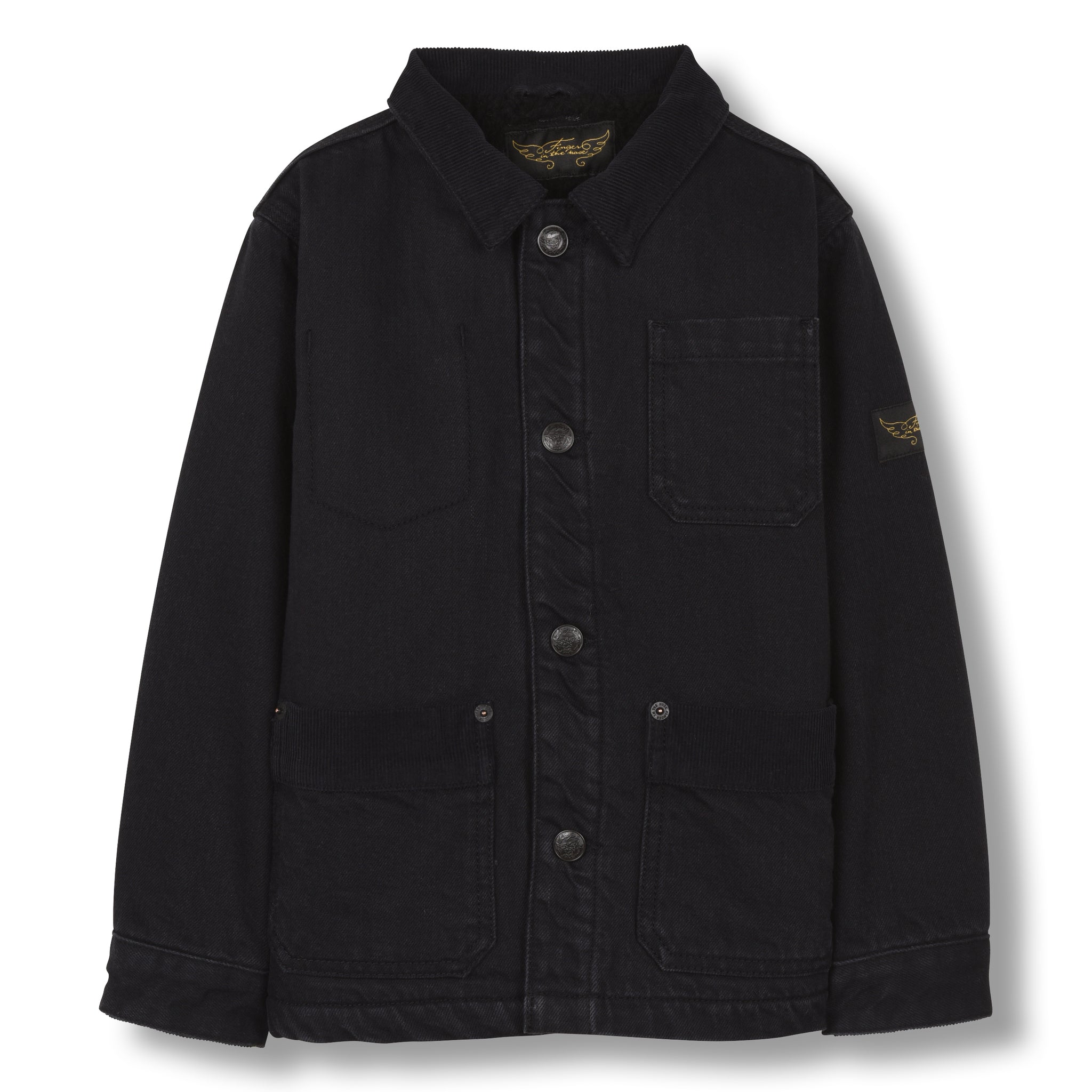 WARREN Black Denim - Multipocket Worker Jacket 1
