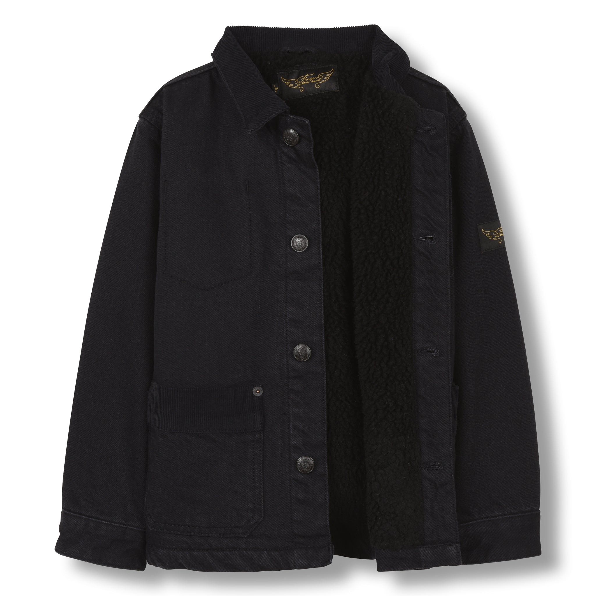 WARREN Black Denim - Multipocket Worker Jacket 2