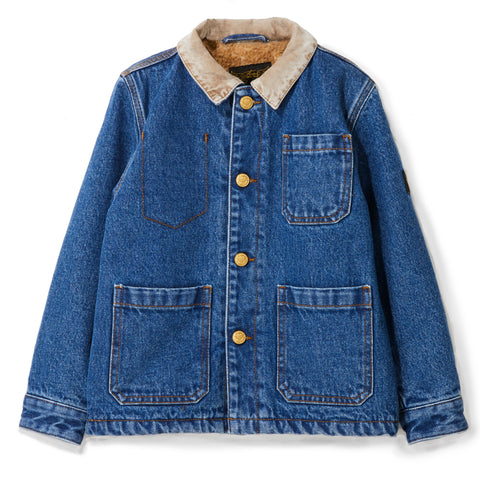 WARREN Blue Denim -  Unisex Multi-pocket Jacket