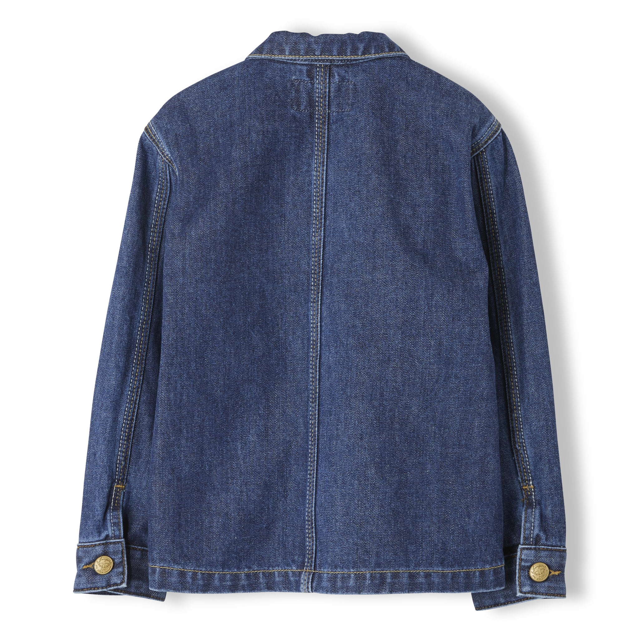 WARREN Dark Blue Denim - Unisex Woven Multipocket Jacket 4