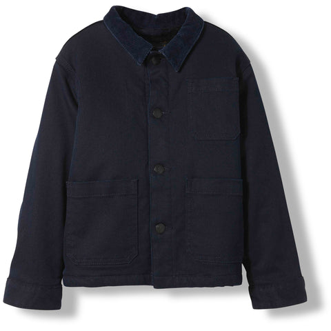 WARREN Deep Blue Denim -  Woven Multipocket Jacket 1