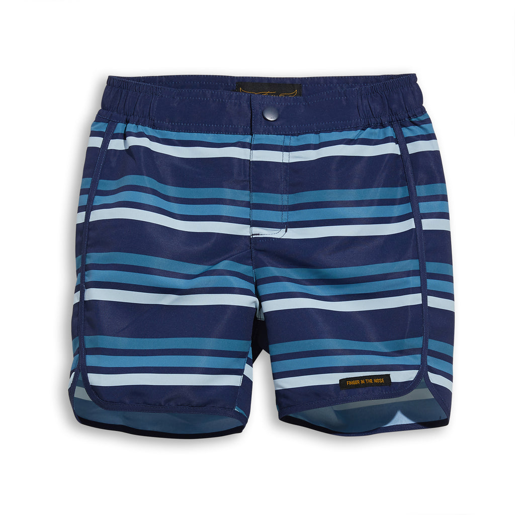 WAVE Navy Stripes - Surf Bermudas