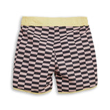 WAVE Pale Pink Checkers - Surf Bermudas