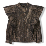 WINGS Bronze Metal Stripes -  Woven Flounced Long Sleeve Shirt 1