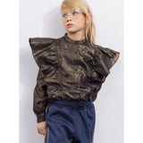WINGS Bronze Metal Stripes -  Woven Flounced Long Sleeve Shirt 2