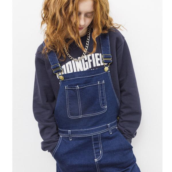 WORKER Raw Denim Blue -  Woven Loose Fit Overall