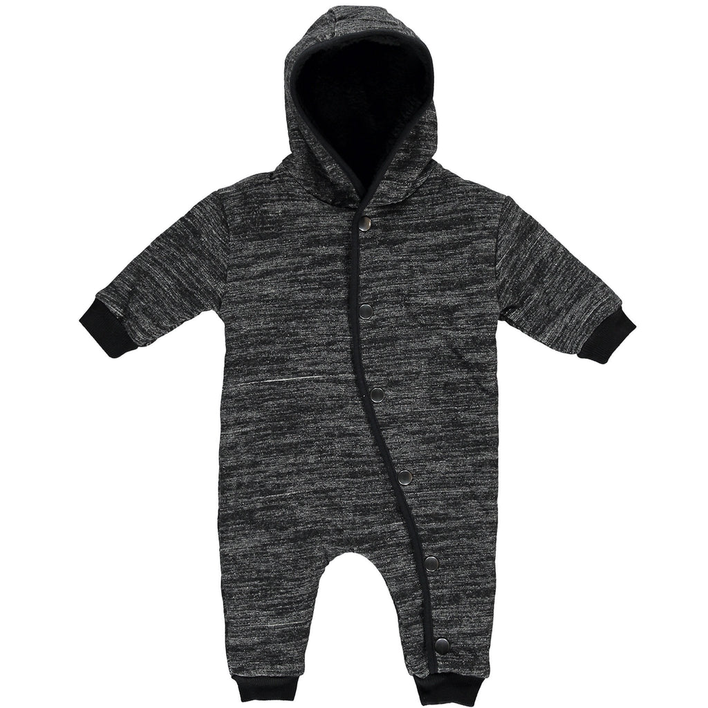 WRAPTOR Heather Black - Unisex Knitted Baby Wrap
