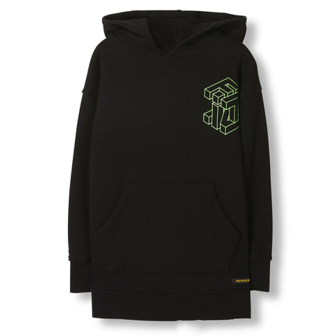 YANKTON Black Cube -  Knitted Oversized Hoody 1
