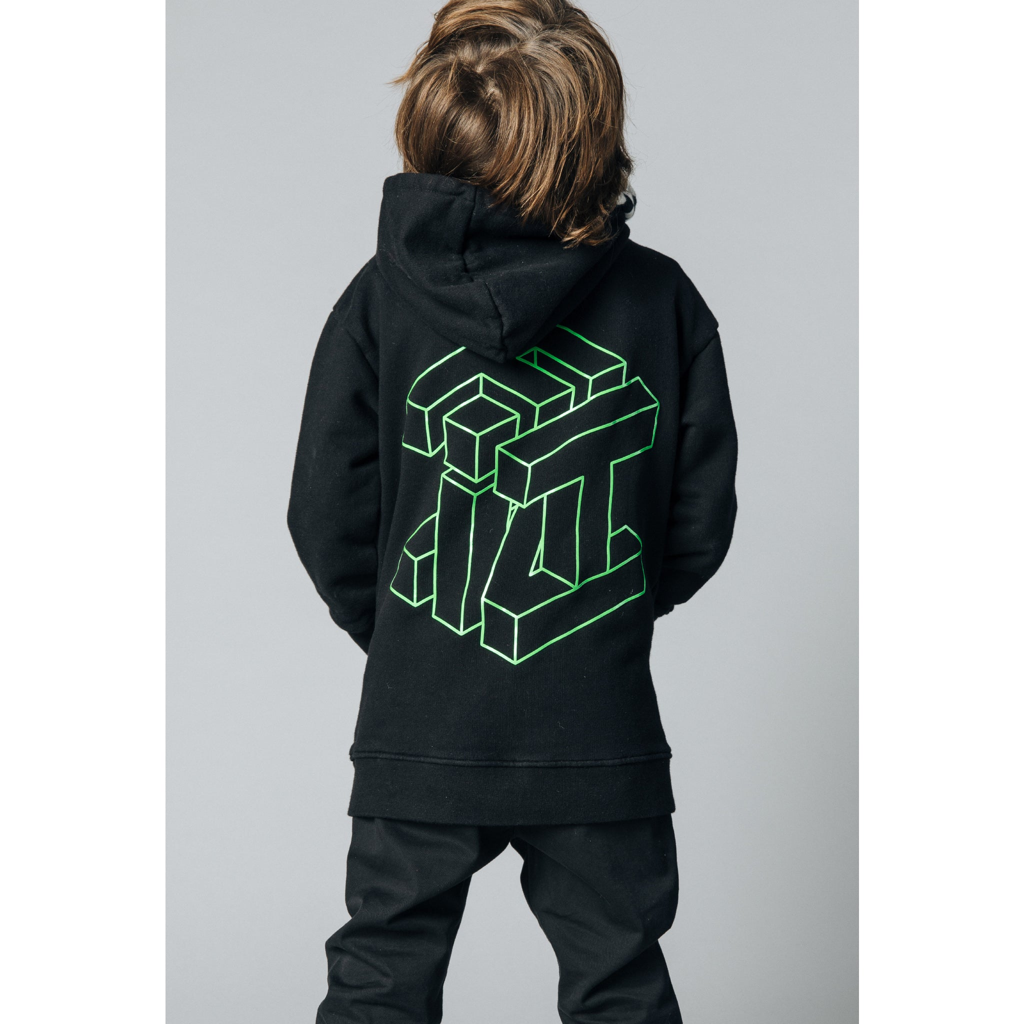 YANKTON Black Cube -  Knitted Oversized Hoody 2
